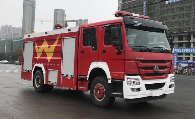 国五豪沃单桥8吨泡沫消防车