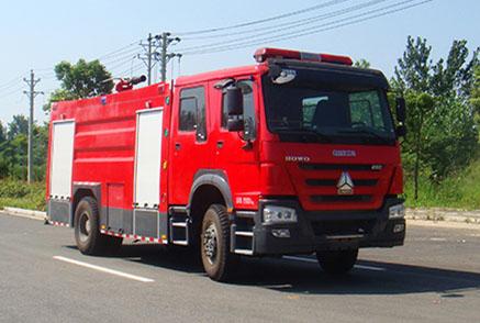 国五8吨豪沃单桥水罐消防车